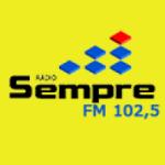 Logo da emissora Rádio Sempre 102.5 FM