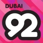 Logo da emissora Radio 92 Rock Dubai