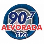 Logo da emissora Rádio Alvorada 90.7 FM