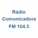 Logo da emissora Rádio Comunicadora 104.5 FM (antiga Fanática FM)