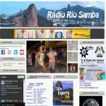 Logo da emissora Rádio Rio Samba
