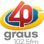 Logo da emissora Rádio 40 Graus 102.5 FM