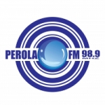 Logo da emissora Rádio Pérola 98.9 FM