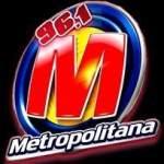 Logo da emissora Rádio Metropolitana 96.1 FM