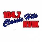 Logo da emissora Radio KVIK 104.7 FM