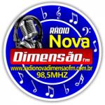 Logo da emissora Rádio Nova Dimensão FM