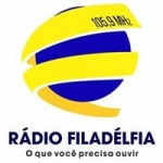 Logo da emissora Rádio Filadélfia 105.9 FM
