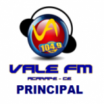 Logo da emissora Rádio Vale do Acarape 104.9 FM