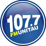Logo da emissora Rádio Unitau 107.7 FM