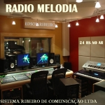 Logo da emissora Rádio Melodia de Londrina