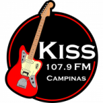 Logo da emissora Rádio Kiss 107.9 FM