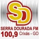 Logo da emissora Rádio Serra Dourada 100.9 FM
