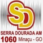 Logo da emissora Rádio Serra Dourada 1060 AM