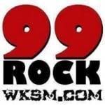 Logo da emissora Radio WKSM 99.5 FM