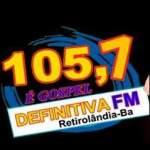 Logo da emissora Rádio Definitiva 105.7 FM