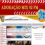 Logo da emissora Adoração Mix 92 FM