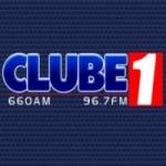 Logo da emissora Rádio Clube 1 660 AM 96.7 FM