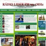Logo da emissora Rádio Líder 99.5 FM
