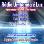 Logo da emissora Rádio e TV  Umbanda é Luz