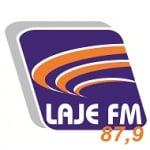 Logo da emissora Rádio Laje 87.9 FM