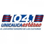 Logo da emissora Radio Unicauca Estéreo 104.1 FM