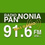 Logo da emissora Rádio Pannonia 91.6 FM