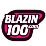 Logo da emissora Rádio Blazin 100 FM