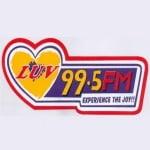 Logo da emissora Radio Luv 99.5 FM