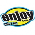 Logo da emissora Rádio Enjoy 105.7 FM