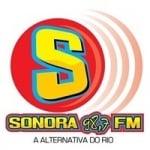 Logo da emissora Rádio Sonora 98.7 FM