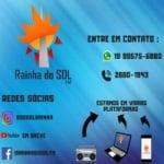 Logo da emissora Rádio Rainha do Sol 105.7 FM