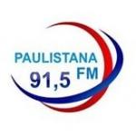 Logo da emissora Rádio Paulistana 91.5 FM