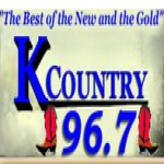 Logo da emissora WKMM 96.7 FM K-Country