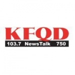 Logo da emissora KFQD 750 AM 103.7 FM NewsTalk
