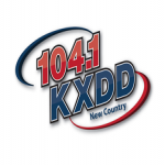 Logo da emissora KXDD 104.1 FM New Country