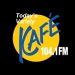 Logo da emissora KAFE 104.1 FM