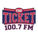 Logo da emissora KLSZ 100.7 FM The Ticket