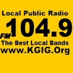 Logo da emissora Radio KGIG 104.9 FM