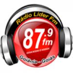 Logo da emissora Rádio Líder FM Goiania 87.9