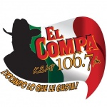 Logo da emissora KSMY 106.7 FM El Compa