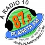 Logo da emissora Rádio Planeta FM 87.9