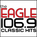 Logo da emissora KDGL 106.9 FM The Eagle