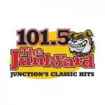 Logo da emissora KGJX 101.5 FM The Junkyard