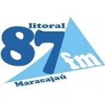 Logo da emissora Rádio Litoral 87.9 FM
