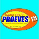 Logo da emissora Rádio Proeves 104.9 FM