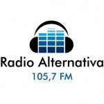Logo da emissora Rádio Alternativa 105.7 FM