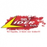 Logo da emissora Rádio Líder 98.7 FM