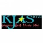 Logo da emissora KJAS 107.3 FM