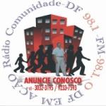 Logo da emissora Rádio Comunidade DF 98.1 FM