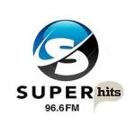 Logo da emissora Rádio Super Hits 96.6 FM